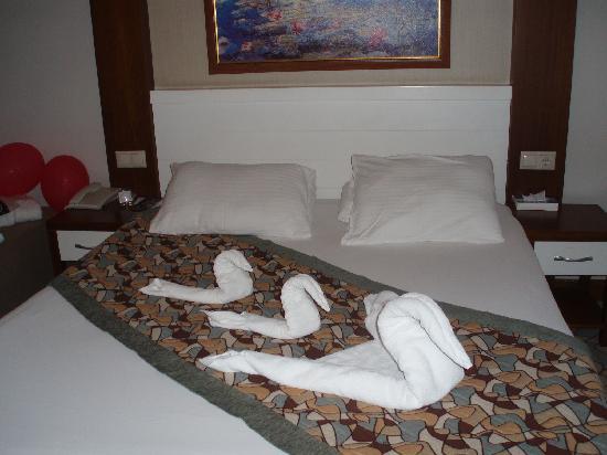 Viking Star Hotel: slaapkamer elke dag mooi opgemaakt