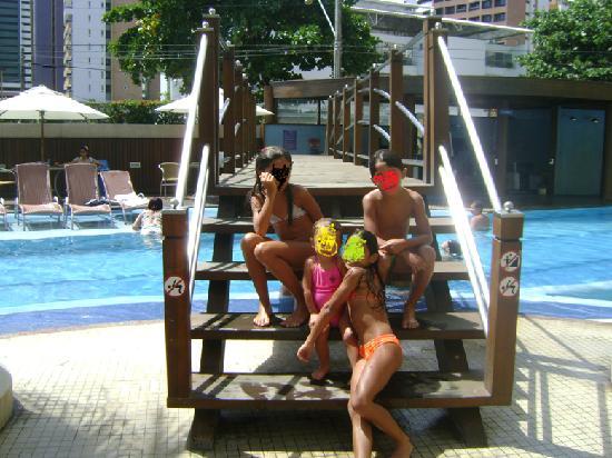 Mareiro Hotel: Ponte sobre a piscina do Hotel