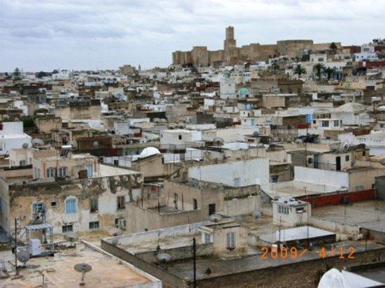 スース, チュニジア, リバトから町を臨む