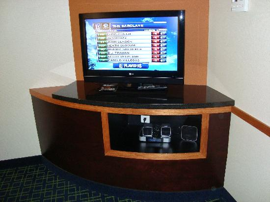 Fairfield Inn & Suites Wytheville: TV and electronics in our suite