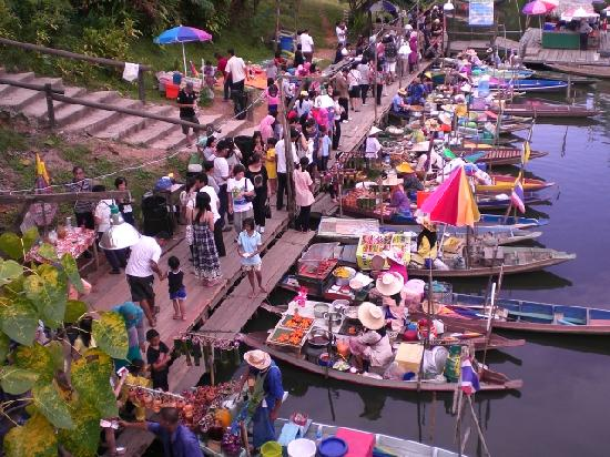 Hat Yai, Tajlandia: Floating market