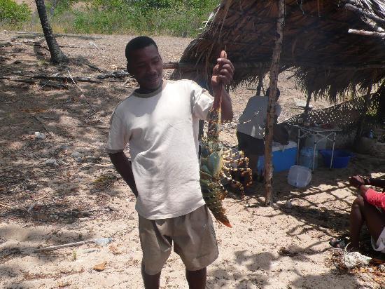 Doany Beach: Langouste pour Barbecue Bivouac