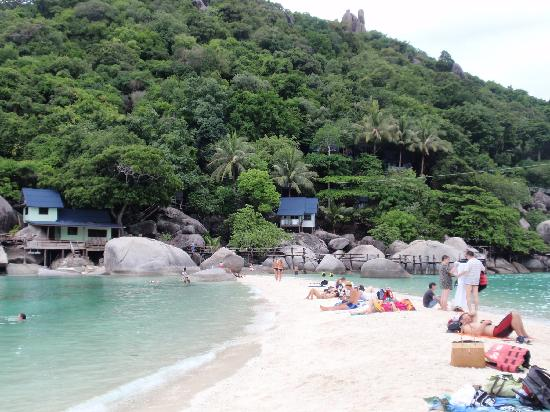 Koh Nang Yuan : 右が入江、左が入江ではない海