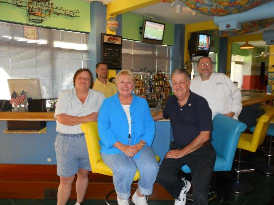 The Hurricane Restaurant: Meghan, Mark and Chef Bruce with Jim and Jan
