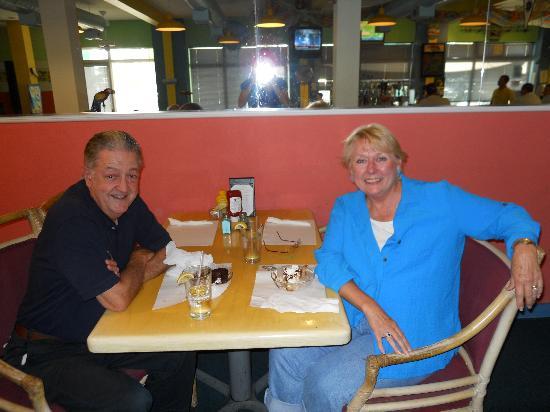 The Hurricane Restaurant: Jim and Jan dining
