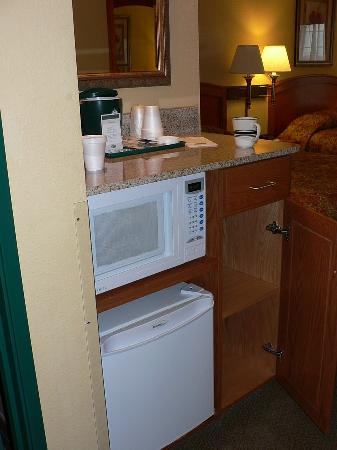 Country Inn & Suites By Carlson, Green Bay East: Microwave & fridge