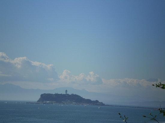 鎌倉市, 神奈川県, 稲村ケ崎公園から江の島を望む