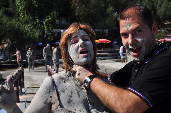 Dalyan Mud Bath: Mehmet 'killing the zombie' !