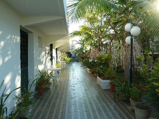 Estalagem Monte Verde & Melba: Terasse Melba , hier gibts es links Zimmer ohne Fenster nur mit Lamellentüre