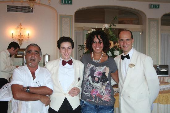 Grand Hotel Ambasciatori: Coffee Chap, Paola and Giovanni (with strange, unphotogenic person in the middle. Sorry!)