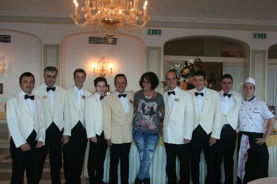 Grand Hotel Ambasciatori: Some of the dining room staff!