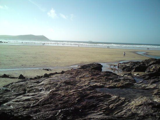 Polzeath Beach: THe beach