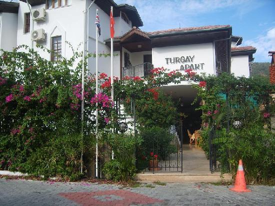 Turgay: The entrance to the apartments