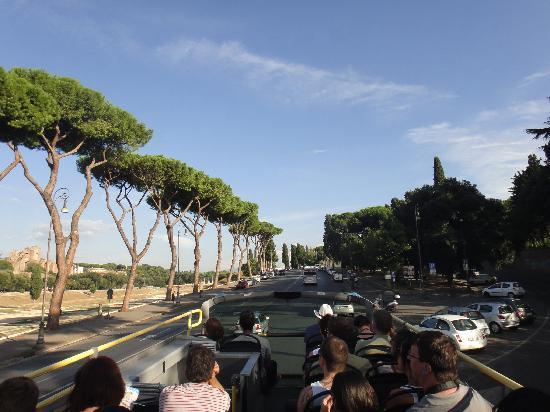 Ciao Roma: vista desde la parte superior del bus