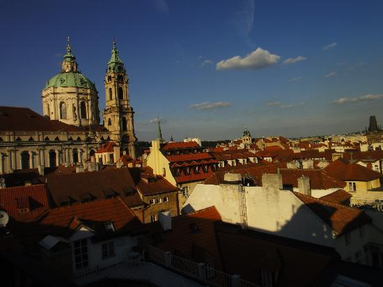 Aria Hotel Prague by Library Hotel Collection: View from CODA rooftop restaurant