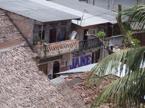 La Casa Fitzcarraldo: a neighborhood in Iquitos, as viewed from the tree house at Casa Fitz
