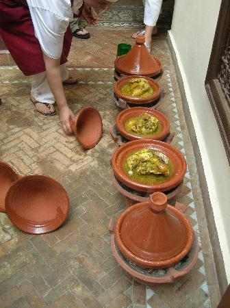 Zamzam Riad: tagines from the cooking class