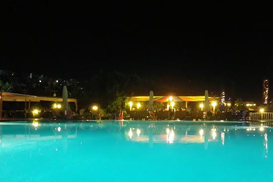Golden Age Hotel: Main pool at night
