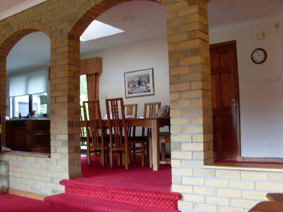 Kilconquhar, UK: looking up from the lving room into the dining area
