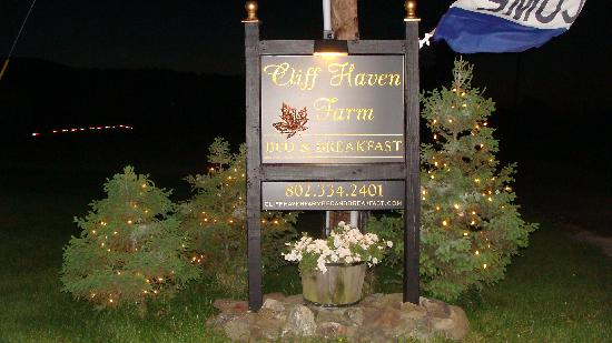 Cliff Haven Farm B&B: You're here