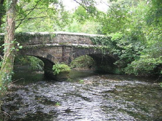 Berrio Mill Holiday Cottages Cornwall: Bridge from our riverbank