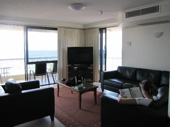 Coolum Caprice Luxury Holiday Apartments: lounge room