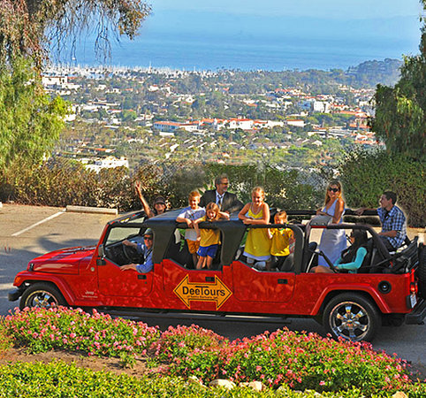 DeeTours of Santa Barbara : Amazing DeeTours view of the Santa Barbara Riviera