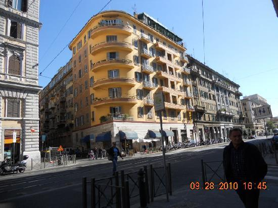 Principe Eugenio: View from across the street of front of hotel.