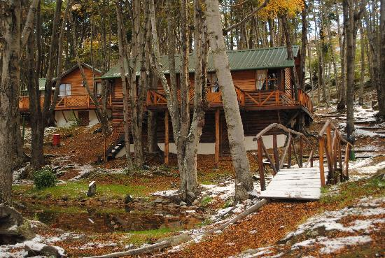 Aldea Nevada - Cabanas: cabaña con lago