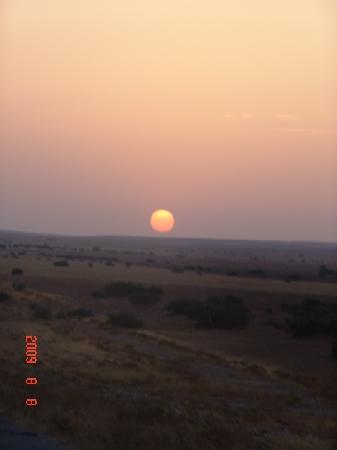 sunrise on the road to blida(from batna)