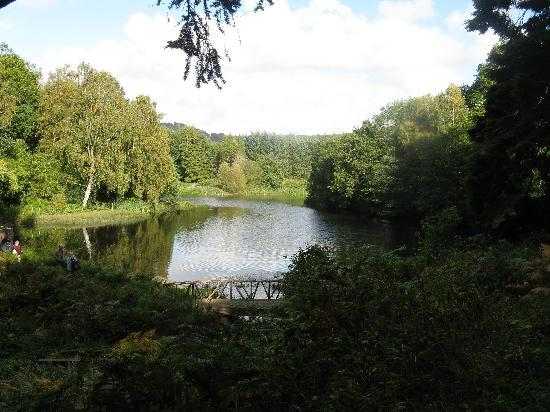 Chillingham Castle: The lake which is said to be the burial place for many