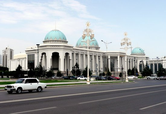 عشق أباد, تركمانستان: prächtige Bauten in Ashgabat