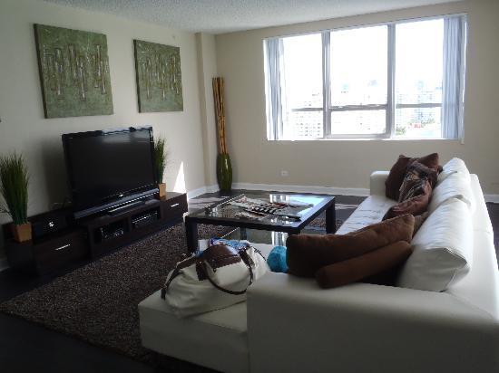Flamingo South Beach Calico Apartments Living Room And Balcony