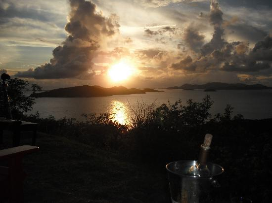 "Peter Island Resort and Spa: Sunset from the ""Loop""!"