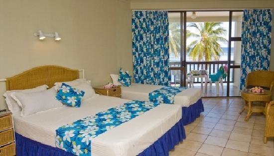Arorangi, Cook Islands: Beachfront Deluxe Suite room layout