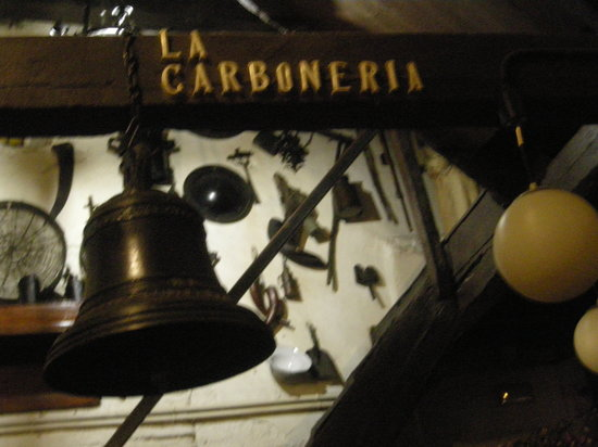 La Carboneria: detail interieur