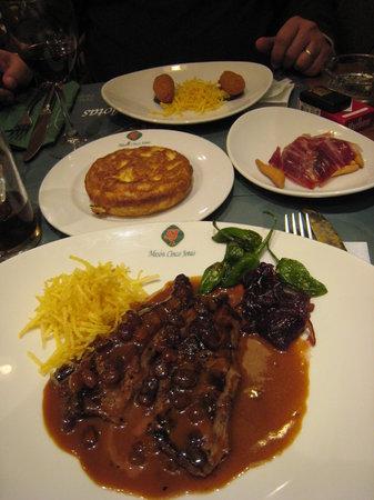 Meson Cinco Jotas: Our wonderful dinner