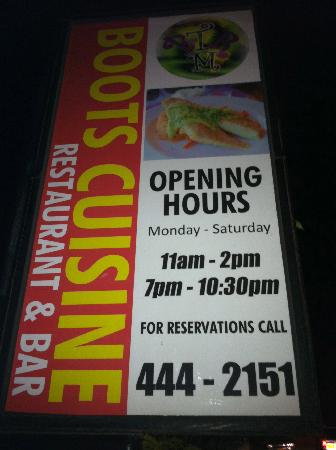 Boots Cuisine : Look for this sign!