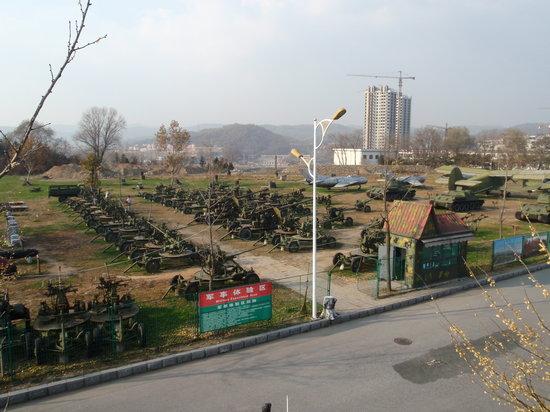 Korean War Memorial: Military equipment out back