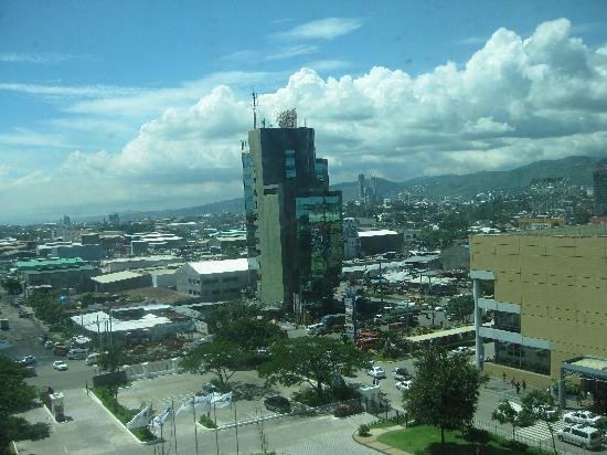 Radisson Blu Cebu: city view from the first room we tried