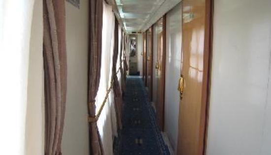 Soft Class sleeper aisleway