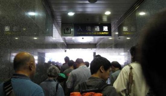 Entering station