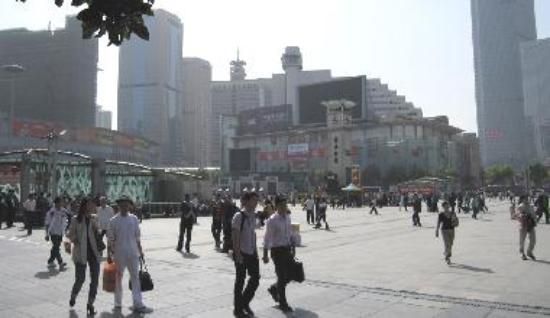 Exiting the Shanghai station