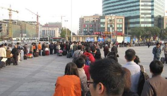 Beijing taxi queue