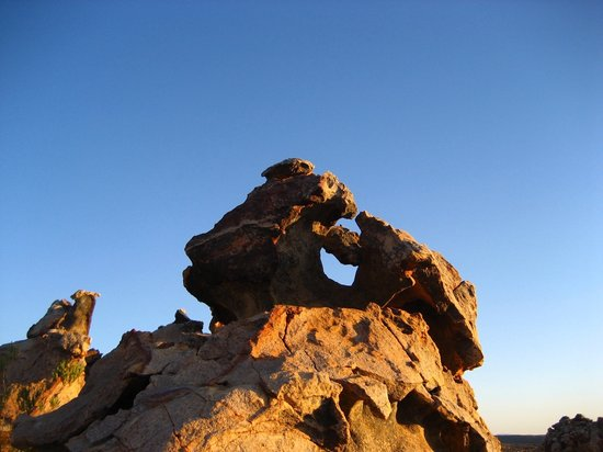 Kagga Kamma Private Game Reserve, Afrika Selatan: Left side Man's face
