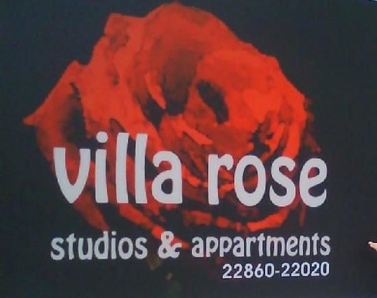 information label of villa rose