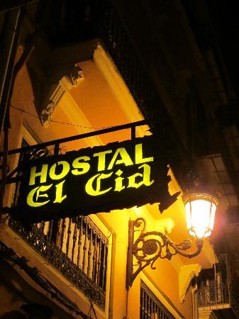 Hostal El Cid Valencia: Insegna