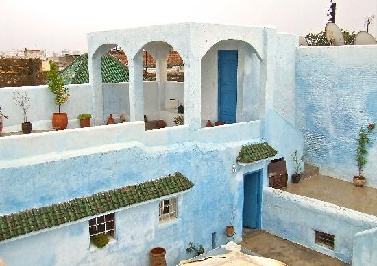 Riad Amazigh Meknes: terrace and view of Meknes