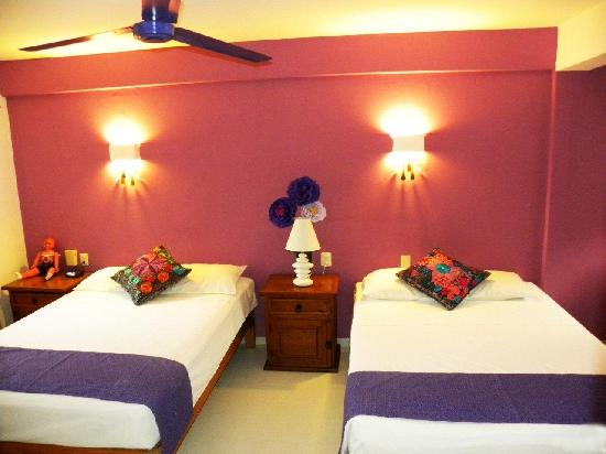 Catedral Vallarta Boutique Hotel: Habitacion Superior DBDB (dos camas matrimoniales)