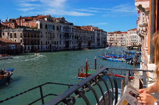 Hotel Palazzo Barbarigo Sul Canal Grande: The view from the Bar&Breakfast room